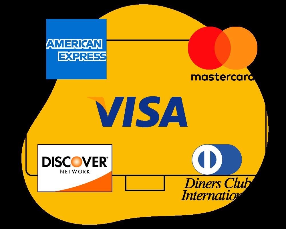 Zahlungsarten mit Kreditkarten
